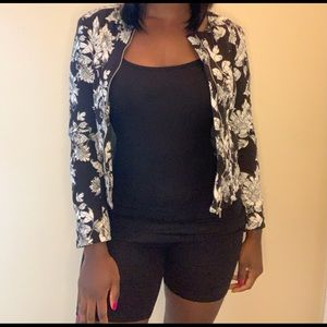 Super Cute Quilted Floral Jacket Size 4